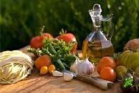 Паста, овощи и фрукты - главные продукты