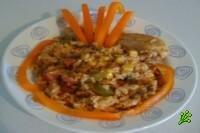 Курица острая с овощами и рисом