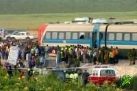 Авария пассажирского поезда возле Кирьят-Гата