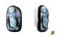 Найдена античная камея с Купидоном